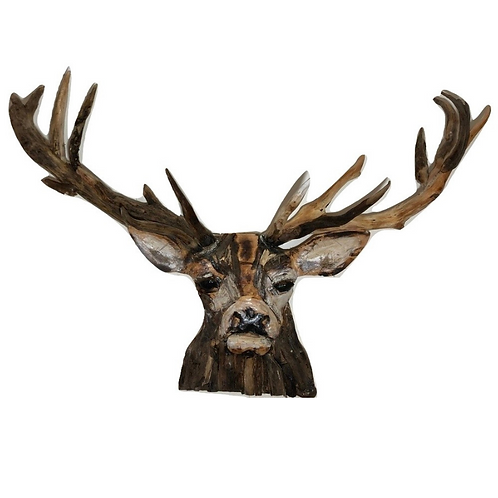 Huge Stag Sculpture made from Driftwood