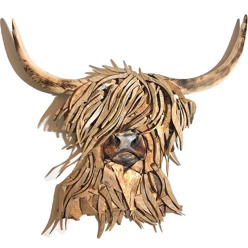 Driftwood Oak Highland Cow