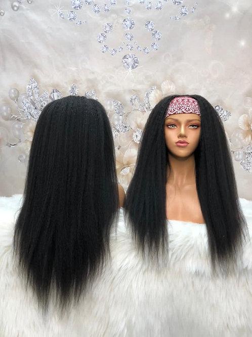 Kinky Straight Headband Wig( get free trendy headband)