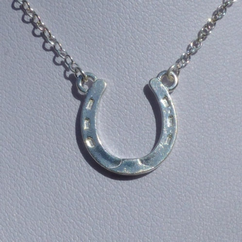 Silver Small Horseshoe Necklace