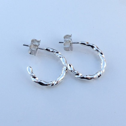 Creole Twist Stud Earrings (small)
