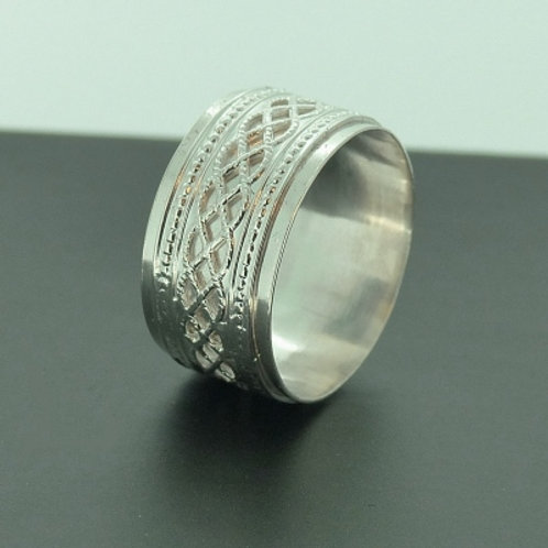 Silver Wide Celtic Band New Edition - made to order