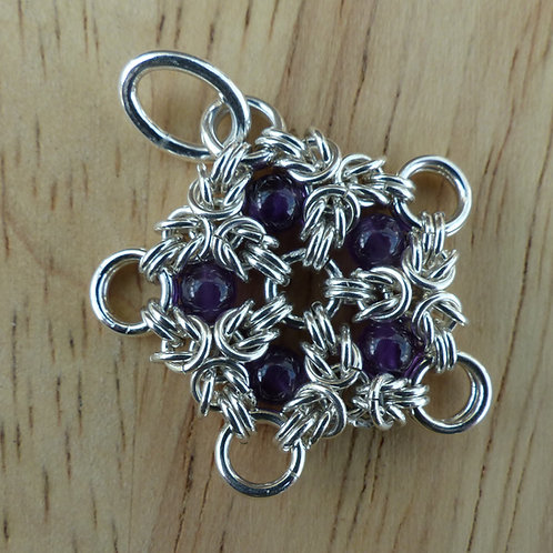 Celtic Star Pendant with Amethyst Beads - last one