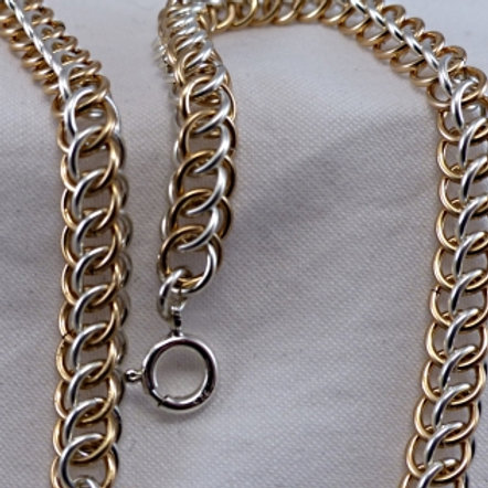 Silver & Gold Filled Persian Weave Necklace - made to order