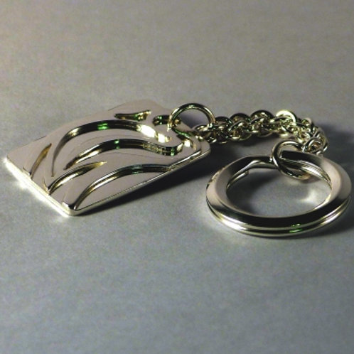 Silver Swirl Pattern Key ring and Fob - made to order