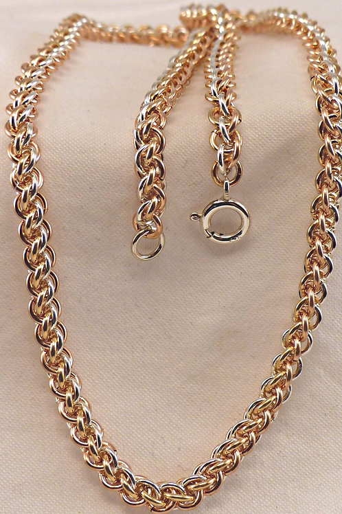 Three colour spiral chain necklace - made to order