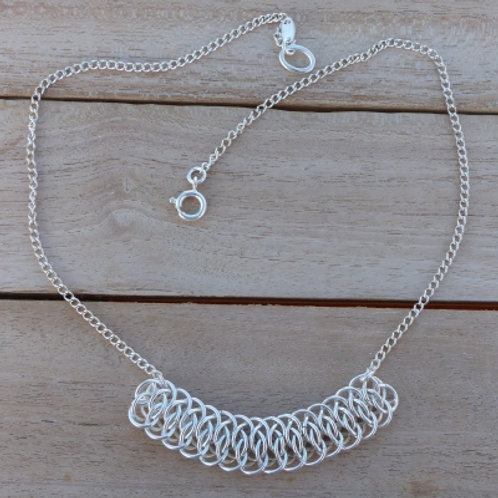 Viperscale Necklace in Silver - made to order