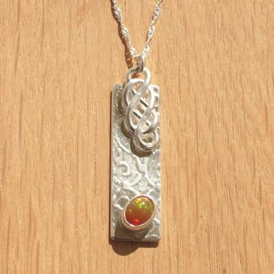 P0598 Celtic Opal Pendant Sunshine