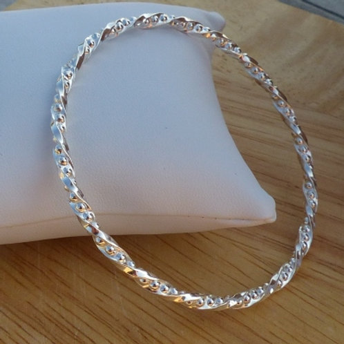 Twisted Wire Bubble Bangle - last one in stock