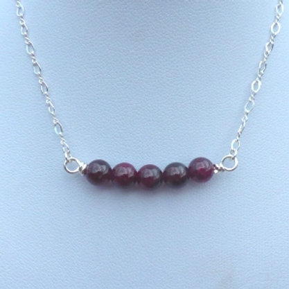 Garnet Beaded Necklet
