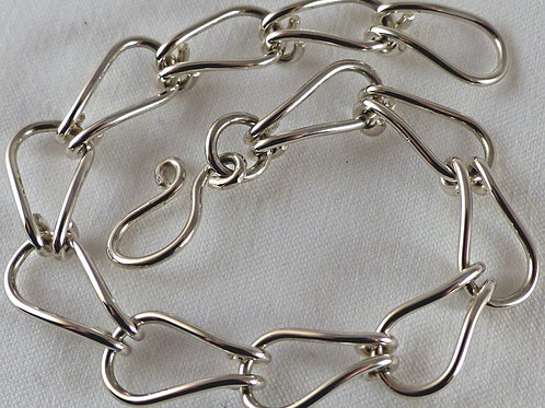 Sterling Silver hand made simple chain bracelet - item made to order