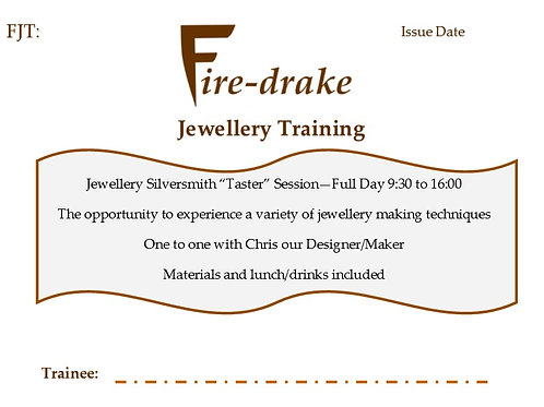 Taster Day! Jewellery Training Voucher available here!