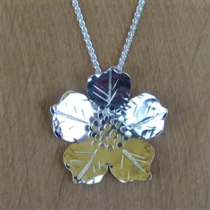 Sterling Silver Five Petal Flower - made to order