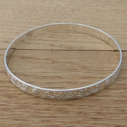 Silver Celtic Patterned Bangle - last one in stock