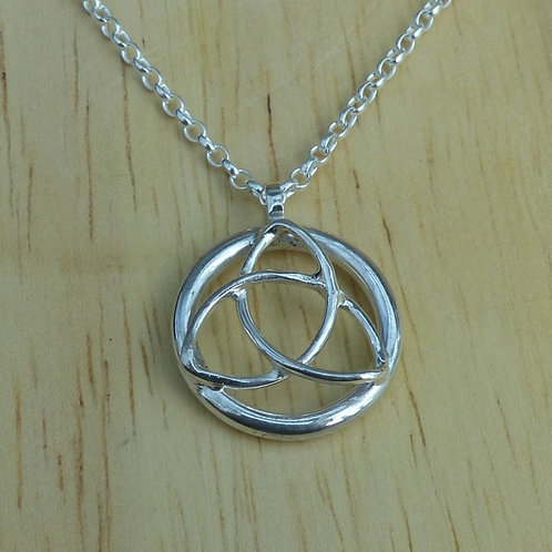 Silver Trinity Knot Pendant - last one