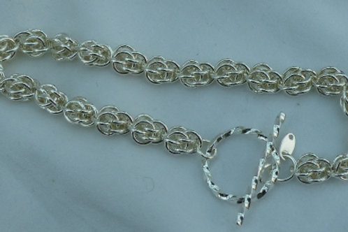 Silver sweet pea bracelet - made to order