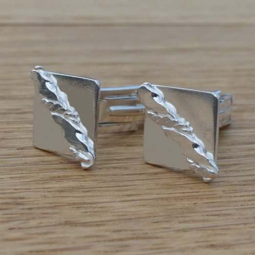 Sterling Silver Square Cufflinks - made to order