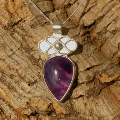 Celtic Amethyst Pendant - one of a kind
