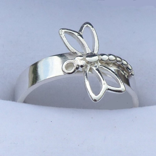 Sterling Silver Dragonfly Ring - made to order