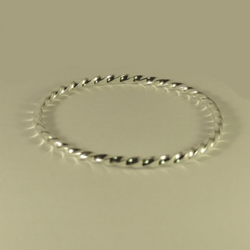 Sterling Silver Twist Bangle (light)  - item made to order
