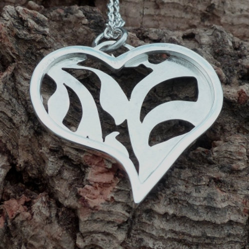 Cut out Heart Pendant - made to order