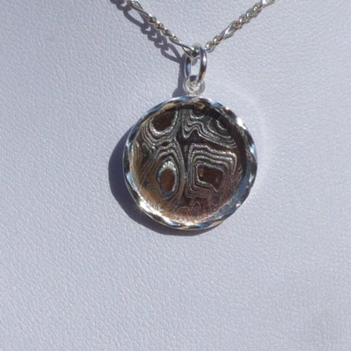 Silver and Mokume Coin Pendant