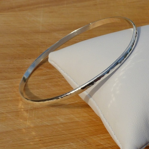 Hammer Finish Sterling Silver Bangle - item made to order
