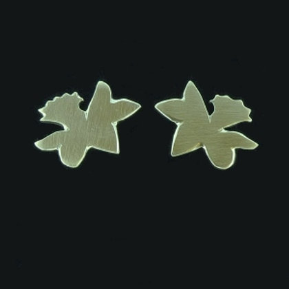 Argentium Silver Daffodil Studs