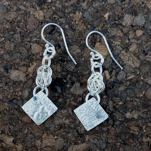 Silver Sweet Pea Dangles - last pair