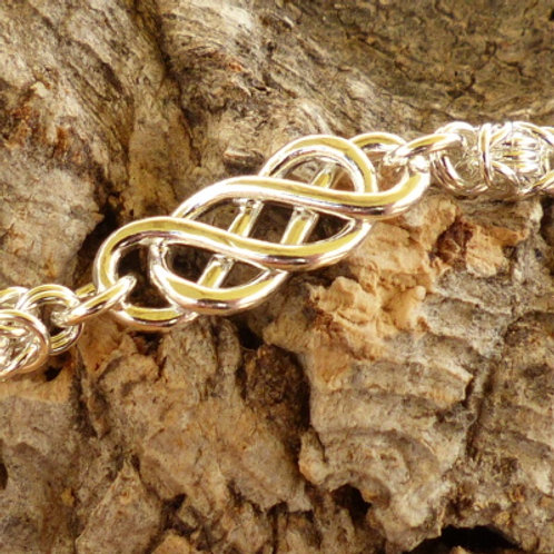 Celtic Knot and Byzantine Silver Necklace