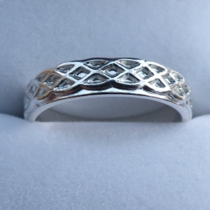 Sterling Silver Celtic Plait Ring - made to order