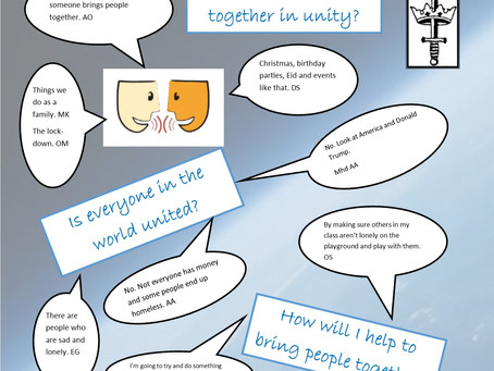 What brings people together in unity?