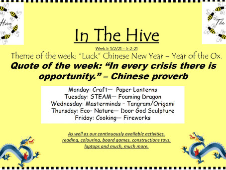 This week in The Hive - 1st February