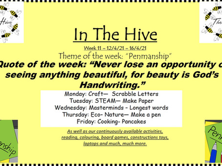 This week in The Hive - 12th April