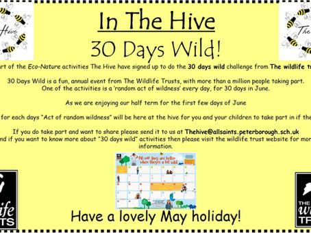 The Hive's 30 Days Wild Challenge