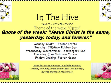 This week in The Hive - 22nd March