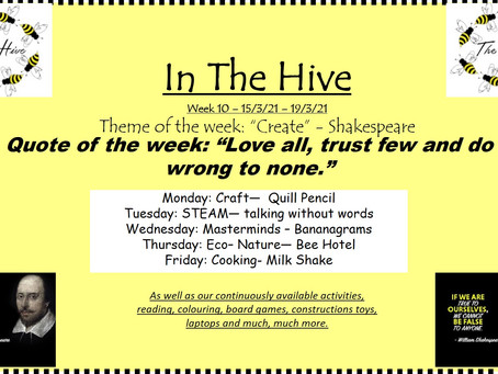 This week in The Hive - 15th March