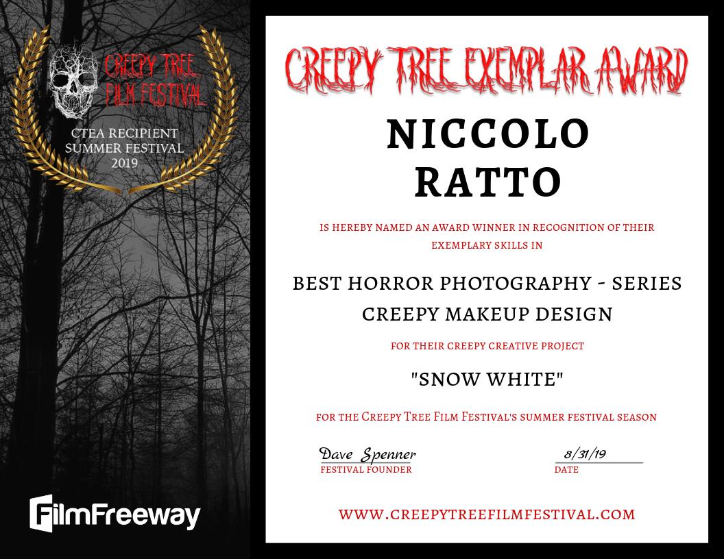 Creepy Tree Exemplar Award