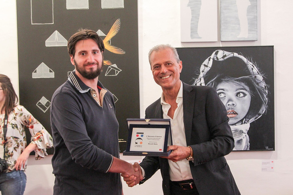 prize winning artist Niccolò Ratto Biennale Genova