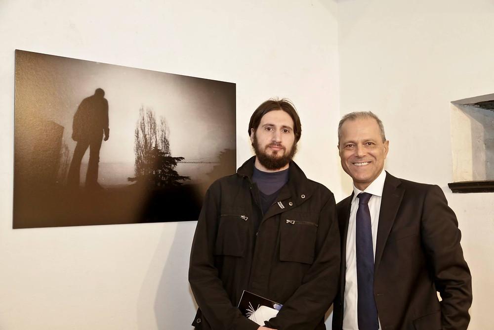 Niccolo Ratto con Mario Napoli, Quake, Genova Art Expo 2017