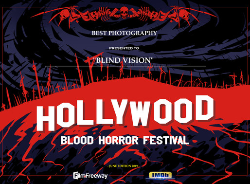 Premiato all'Hollywood Blood Horror Festival!!!