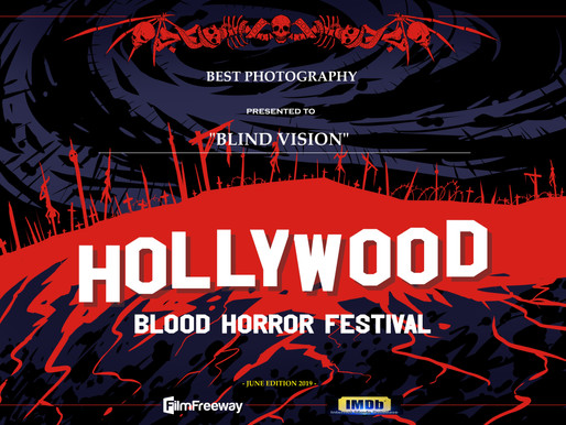 Premiato all'Hollywood Blood Horror Festival!!!