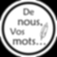 Logo De Nous Vos Mots - Olivier Duron Biographe