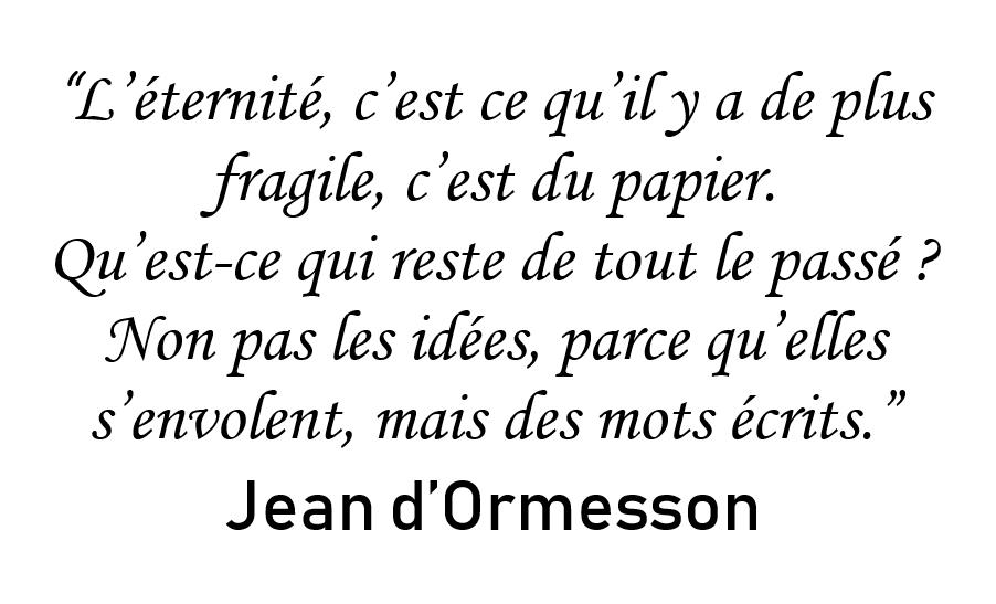 Le passé et les mots (Jean-d'Ormesson)