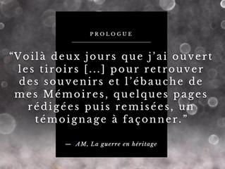 Extrait : prologue d'une nouvelle biographie.
