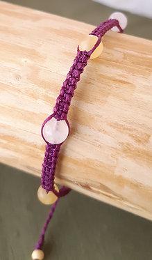 Bracelet Calcite orange & Quartz rose