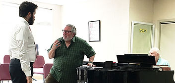 Jeffrey Goldberg in a lesson with Peter Strummer and Gerald A. Brown