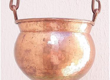 Bowl Shirodhara (Dharapatra) em Cobre c/ valvula