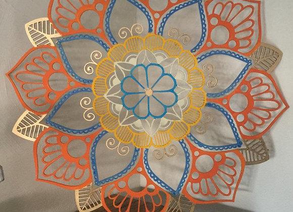 Mandala MDF 40 cm de diametro - várias cores