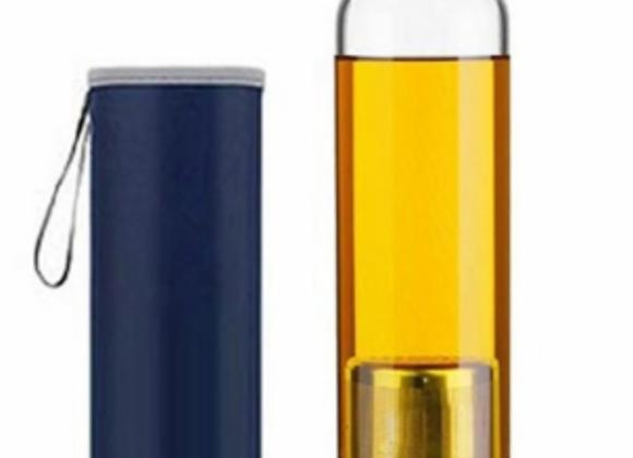 Garrafa p/ cha c/ infusor 550ml aço inox